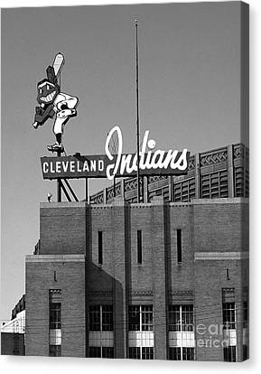 Cleveland Indians Canvas Print - Clevealnd Indians Wahoo by James Baron