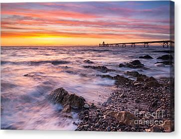Clevedon Sunset Canvas Print by Daugirdas Racys