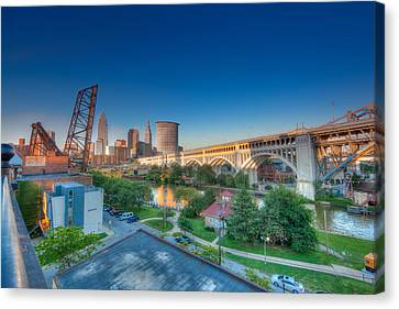 Cleveland Abstract Hdr Canvas Print