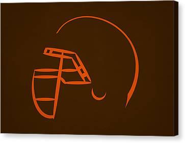 Cleveland Browns Helmet Canvas Print by Joe Hamilton