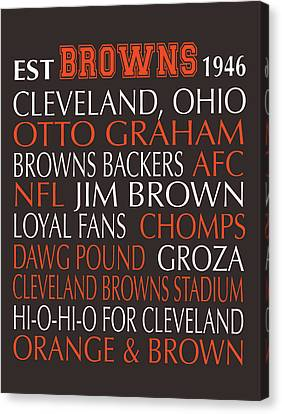 Cleveland Browns Canvas Print