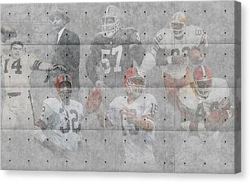 Player Canvas Print - Cleveland Browns Legends by Joe Hamilton
