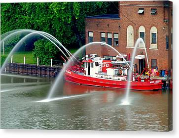 Cleveland Firehouse Canvas Print by Frozen in Time Fine Art Photography