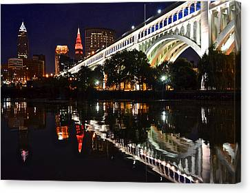 Cleveland Flats Canvas Print by Frozen in Time Fine Art Photography