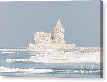 Cleveland Harbor West Pierhead Light II Canvas Print by Clarence Holmes