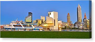 Marvelous View Canvas Print - Cleveland Icons by Frozen in Time Fine Art Photography
