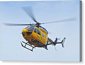 Cleveland Metro Life Flight Canvas Print by Frozen in Time Fine Art Photography