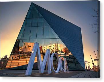 Canvas Print featuring the photograph Cleveland Museum Of Modern Art by Brent Durken