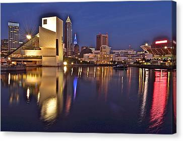 Cleveland Ohio Lakefront Canvas Print by Frozen in Time Fine Art Photography