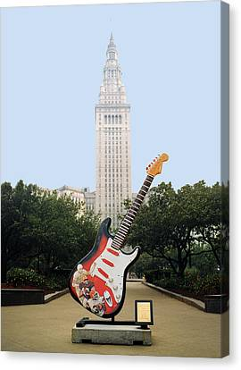 Canvas Print featuring the photograph Cleveland Rocks by Terri Harper