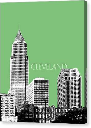 Cleveland Skyline 2 - Apple Canvas Print by DB Artist