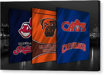 Mlb Canvas Print - Cleveland Sports Teams by Joe Hamilton