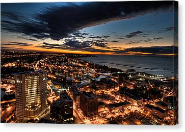 Canvas Print featuring the photograph Cleveland Sunset by Brent Durken