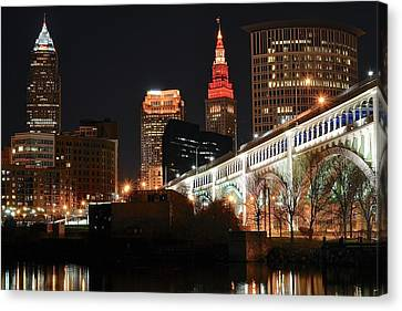 Cleveland Up Close Canvas Print by Frozen in Time Fine Art Photography