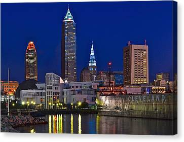 Canvas Print - Cleveland Up Close by Starving  Artist