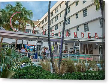 Clevelander Hotel Art Deco District Sobe Miami Florida Canvas Print by Ian Monk
