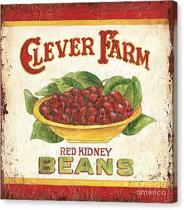 Clever Farms Beans Canvas Print by Debbie DeWitt