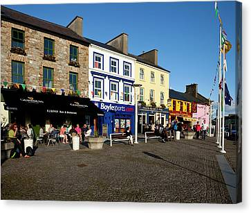 Clifden Town Centre And Contemporary Canvas Print
