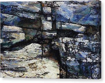 Cliff Abstract Canvas Print by Gun Legler