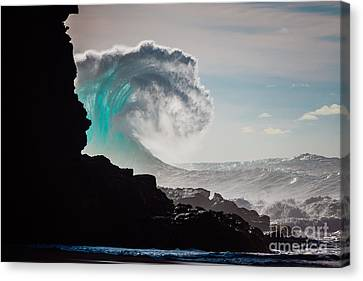 Cliff Curl Canvas Print