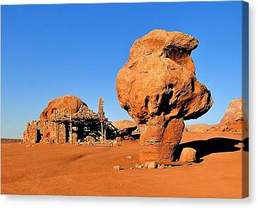 Cliff Dweller Home Canvas Print by Cindy Croal