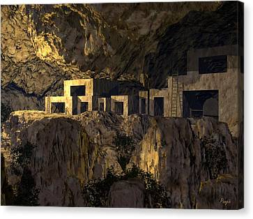 Cliff Dwellers Canvas Print by John Pangia