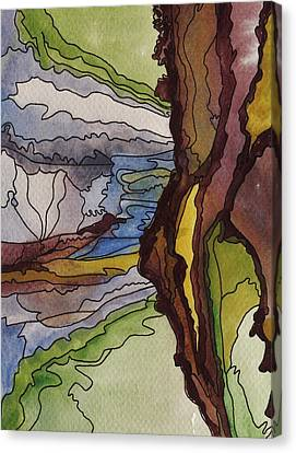Cliff Face Views Canvas Print by Barbara St Jean