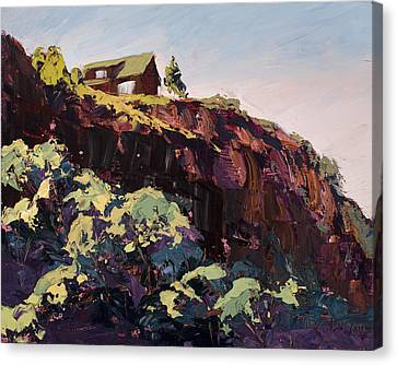 Fort Collins Canvas Print - Cliff Hanger by Mary Giacomini
