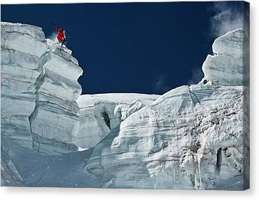 Cliff Jumping Canvas Print by Tristan Shu