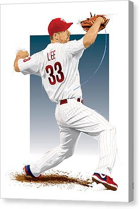 Citizens Bank Park Canvas Print - Cliff Lee by Scott Weigner