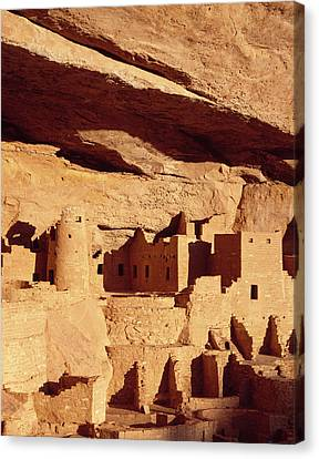 Cliff Palace Ruin In Mesa Verde Canvas Print by Greg Probst