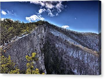 Cliffs Along North Fork Mountain Trail - West Virginia Canvas Print by Brendan Reals