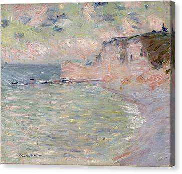 Cliffs And The Porte Damont, Morning Effect, 1885 Oil On Canvas Canvas Print by Claude Monet
