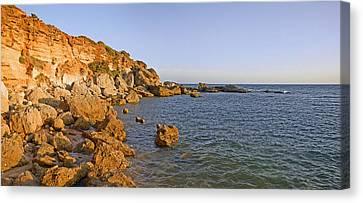 Cliffs At Coast, Conil De La Frontera Canvas Print