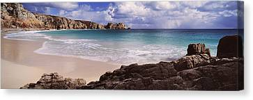 Cliffs At Seaside, Logan Rock Canvas Print by Panoramic Images