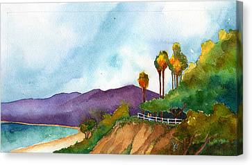 Cliffs At The Beach Canvas Print by Jennifer Greene