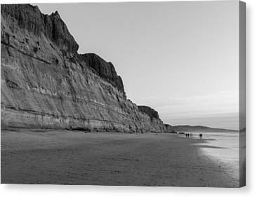 Canvas Print featuring the photograph Cliffs At Torrey Pines Beach by Scott Rackers