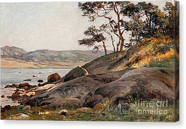 Cliffs By The Shore Canvas Print by Celestial Images