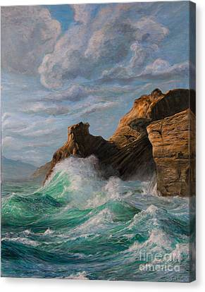 Sausalito Canvas Print - Cliffs End by Jeanette Sacco-Belli