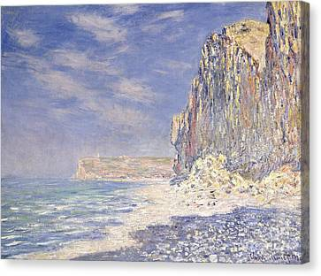 Looking To The Sky Canvas Print - Cliffs Near Fecamp by Claude Monet