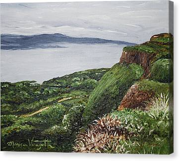 Cliffs Of Magho Canvas Print by Monica Veraguth