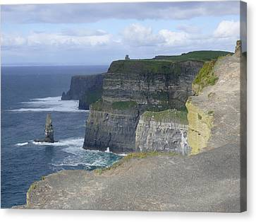 Ledge Canvas Print - Cliffs Of Moher 4 by Mike McGlothlen