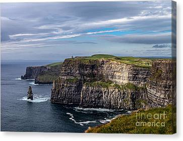 Canvas Print featuring the photograph Cliffs Of Moher I by Juergen Klust