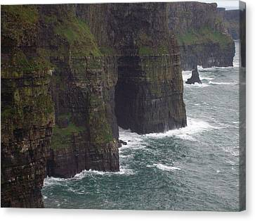 Canvas Print featuring the photograph Cliffs Of Moher Ireland by Alan Lakin