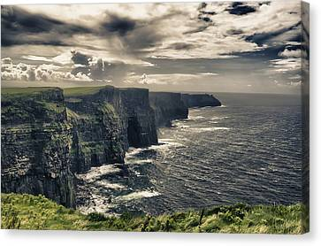 Cliffs Of Moher Canvas Print - Cliffs Of Moher Ireland by Giovanni Chianese