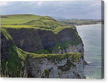 Cliffside Antrim Ireland Canvas Print by Betsy Knapp