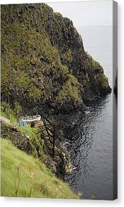 Mystical Landscape Canvas Print - Cliffside Carrick-a-rede Northern Ireland by Betsy Knapp
