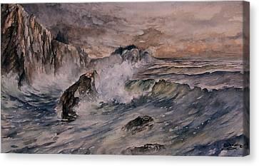 Cliffside Surf Canvas Print