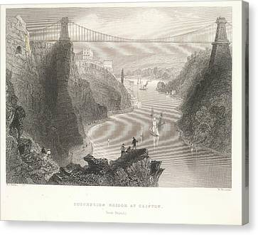 Clifton Suspension Bridge Canvas Print by British Library