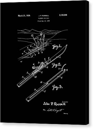 Climber For Skis 1939 Russell Patent Art Canvas Print